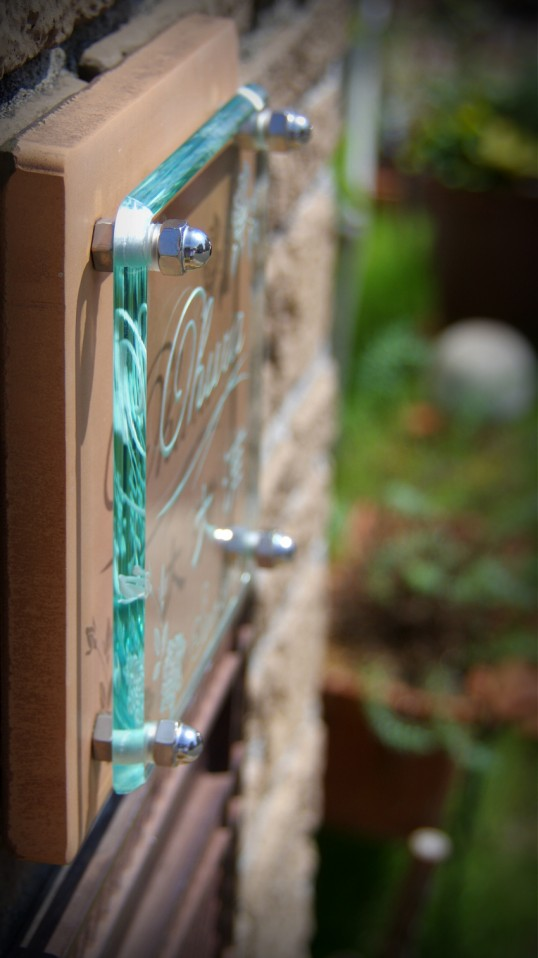クリスタルガラス表札