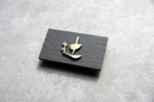 ブラックタイル表札